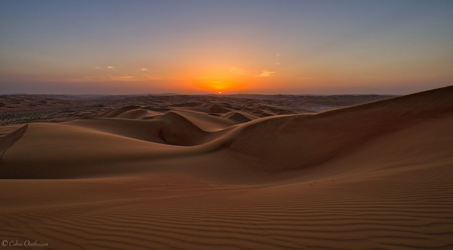 This image was in the Empty Quarter of the Liwa district in the UAE. This was sunset from one of ...
