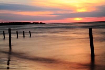 Sunset at Ipperwash, ON
