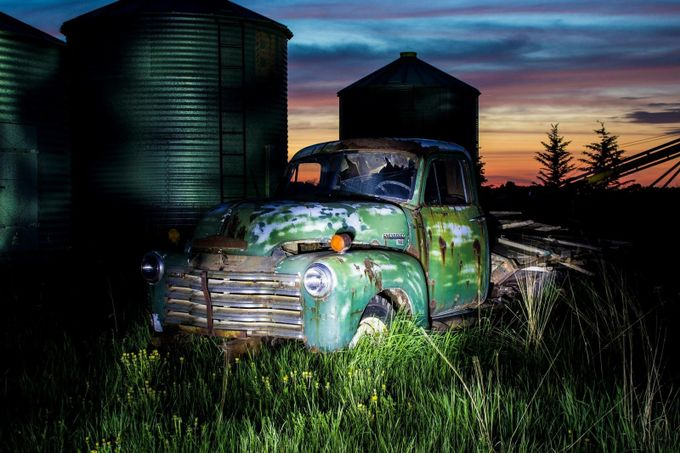Old truck by suegraves - My Favorite Car Photo Contest