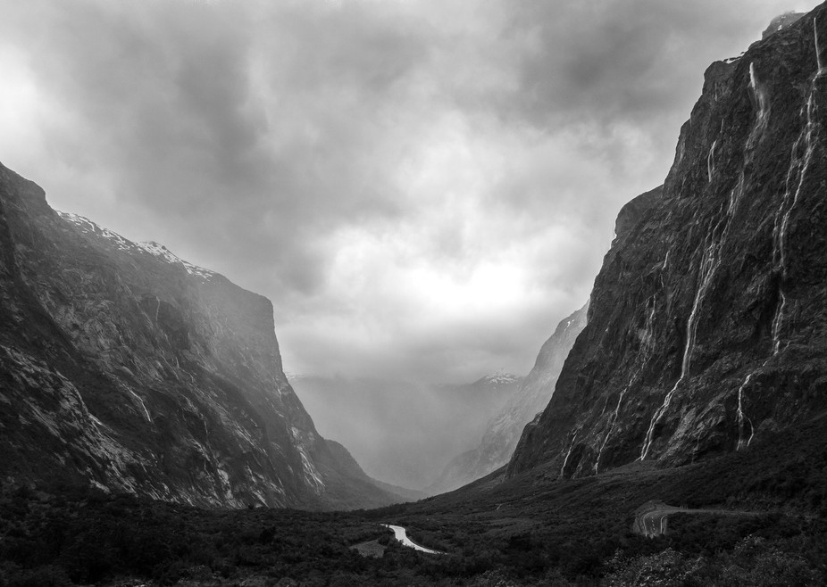 The road to Milford Sound in New Zealand winds through mountains carved out by glaciers. As one o...