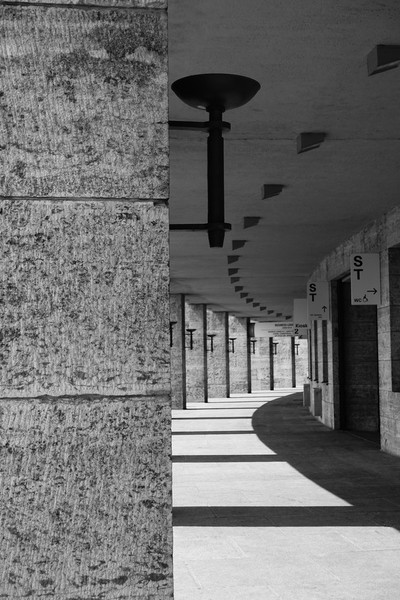 Colonnade in Olympic Stadium