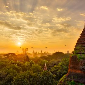 Bagan is an ancient city of Myanmar and a popular tourist destination in recent years populated with hundreds of buddhist temples and ruins dated...