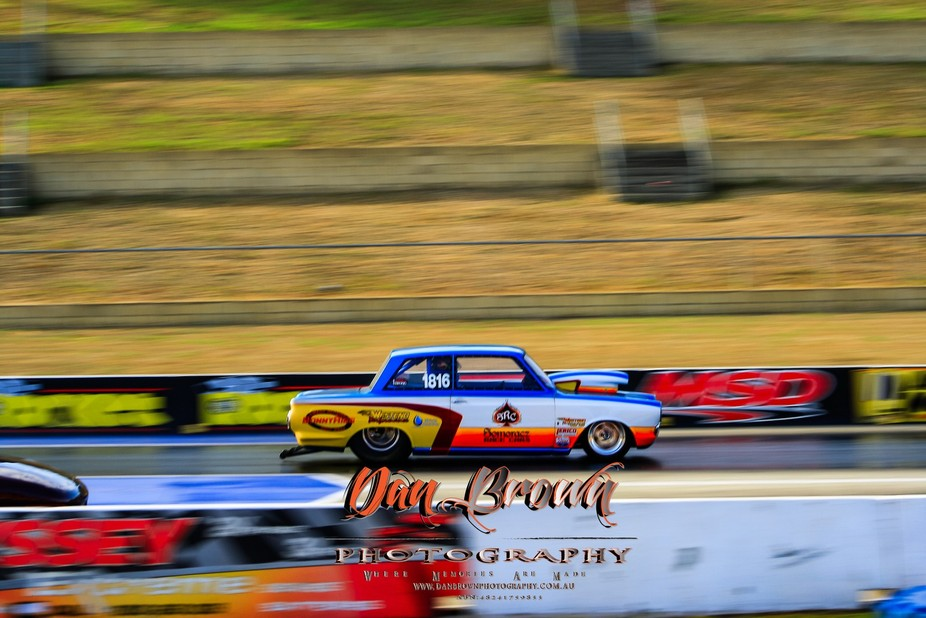 john someranz's mk1 Super gas Cortina in action at last weekends NSW Championship Drag R...