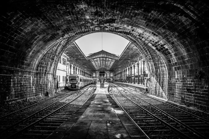 "Railway station - ""Porto São Bento"" by AntonioBernardino - High Ceilings Photo Contest"