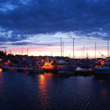 HABOUR NIGHTS - French Creek, Vancouver Island