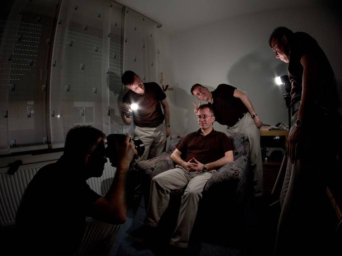 self portrait behind the scenes by pixelmac - Experimental Photography Project