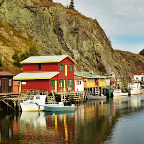 Colourful buildings are found everywhere along the rocky shorelines of Newfoundland.
