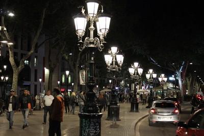 Las Ramblas by night
