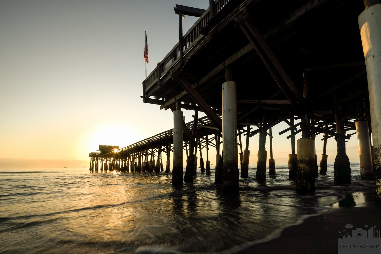 cocoa beach has an historic pier-I visit the pier during the sunset