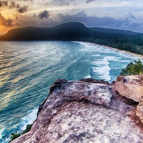 Our family climbed up to Sunset Point on the island of Koh Rong Sanloem, in the Gulf of Thailand off of the southern coast of Cambodia. We enjoye...