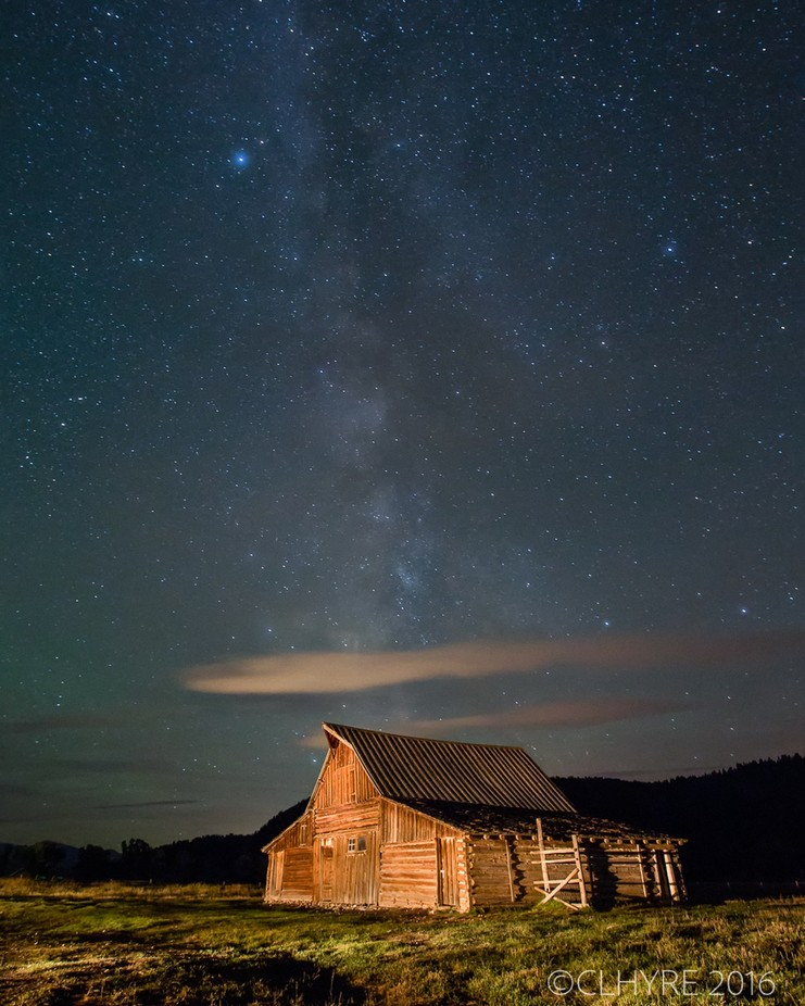 Teton Barn and Milky Way by clhyre - Farms And Barns Photo Contest