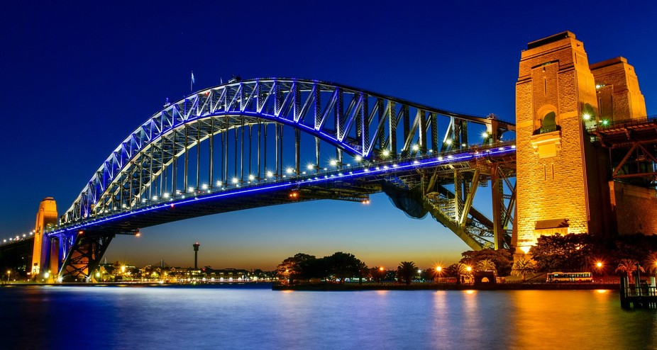 A beautiful view at sunset over Sydney Harbour .... affectionately known locally as 'The...