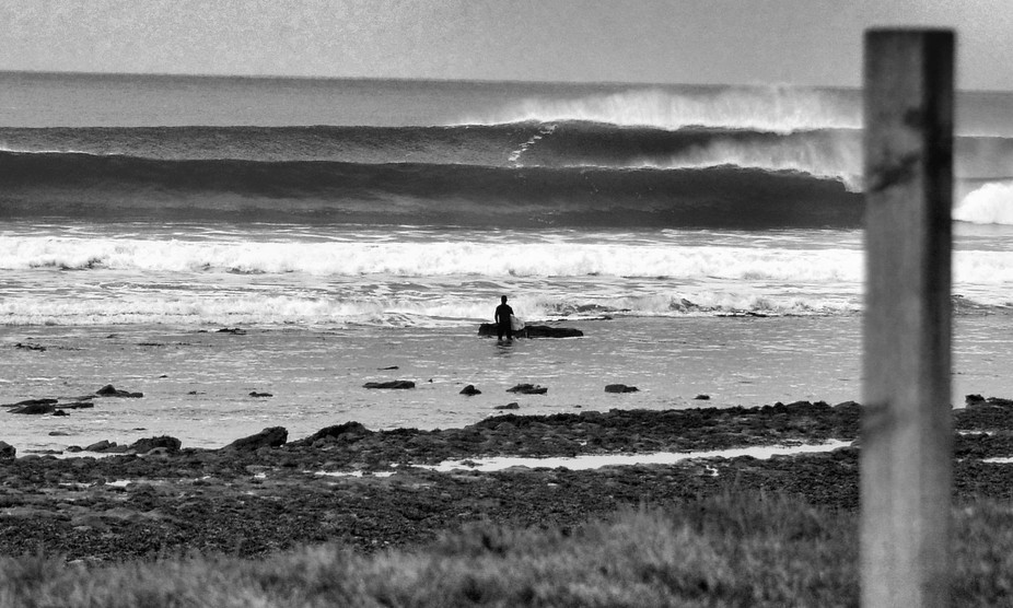 A cold early January morning: waves were pumping