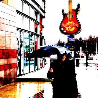 Rain in Warsaw, Poland