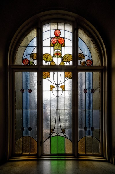 The staircase window ...