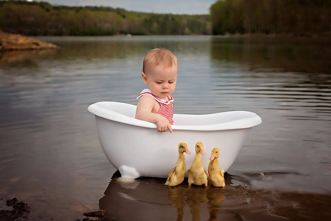 rub a dub dub three ducks in a tub by Andreamartinphoto - Kids With Props Photo Contest