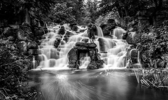 Waterfall by mariannapalloskeseru - A Black And White World Photo Contest