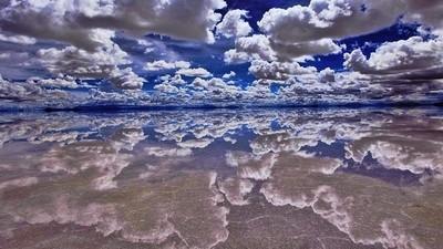 Uyuni Salt Flats, Bolivia (winter 1993)