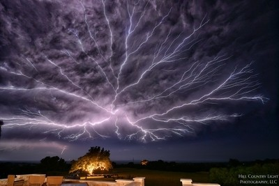 Lightning over Hye, Texas