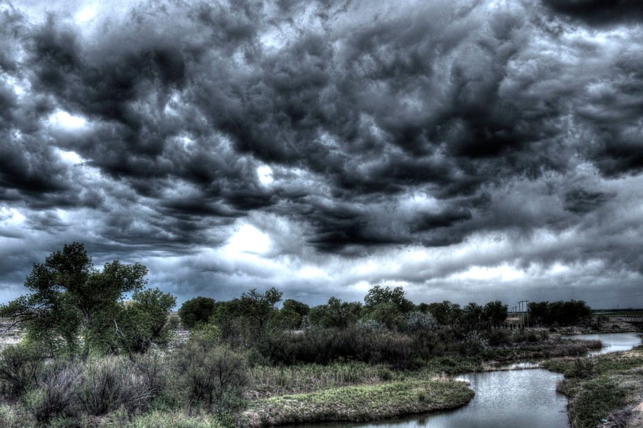 Storm Clouds over Clay Creek