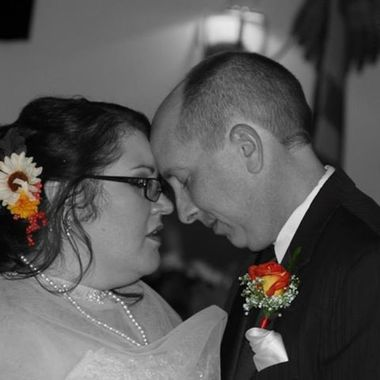 My sister-in-law and her husband. Dancing at their wedding.