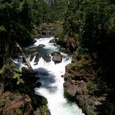 Near the Natural Land Bridge on the Rogue River in Oregon. Another amazingly beautiful scene in Oregon to enjoy.