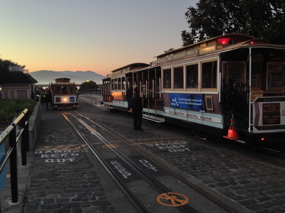 While vacationing in San Francisco I took this shot right around sundown, I liked the lighting.
