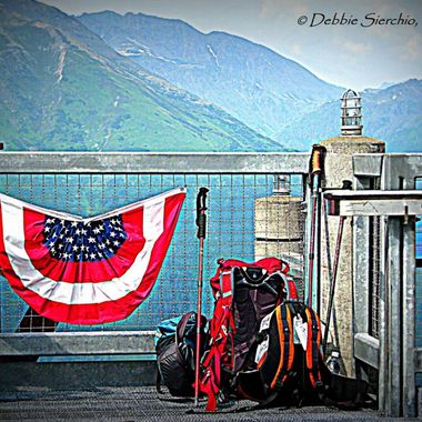 Memorial Day dedication from Mount Alyeska; which is part of the Chugach mountain range and the Alyeska Resort is the largest ski area in the state.