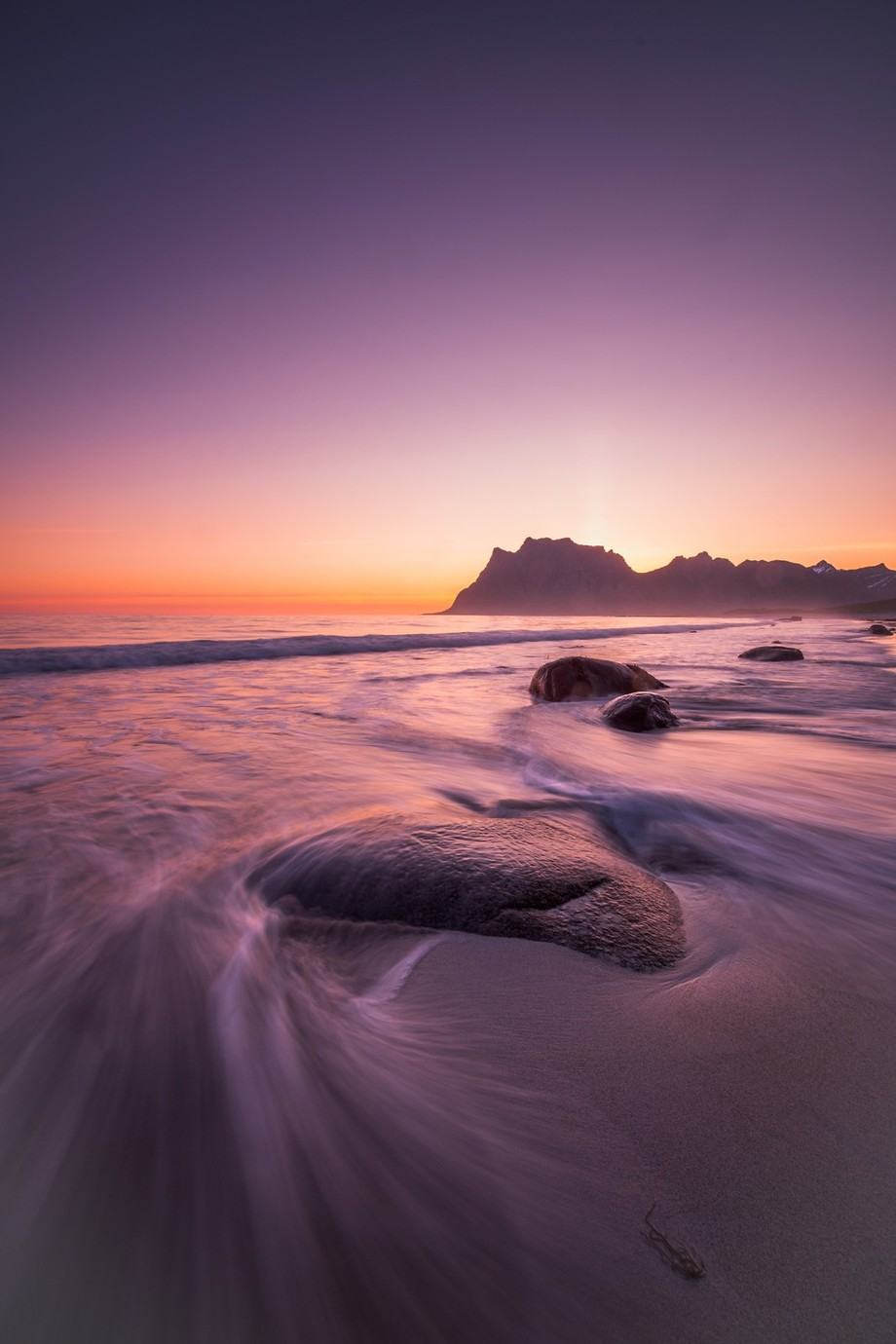 Sunset, Uttakleiv, Lofoten by Eventyr - Composing with Negative Space Photo Contest