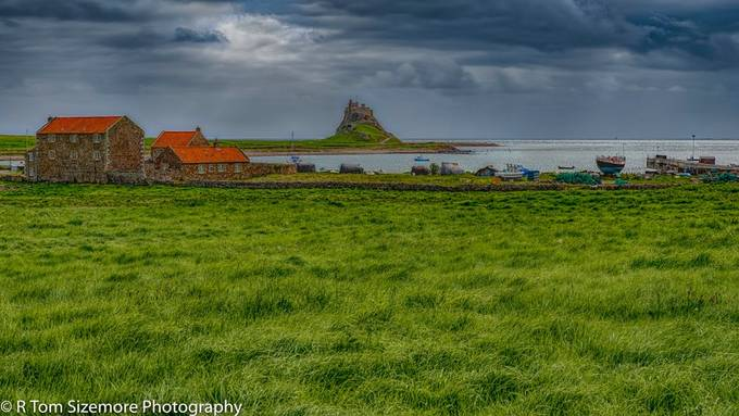 Taken during the brief break in the rain (!), this photo of the Lindisfarne Castle was taken from the Lindisfarne Priory.