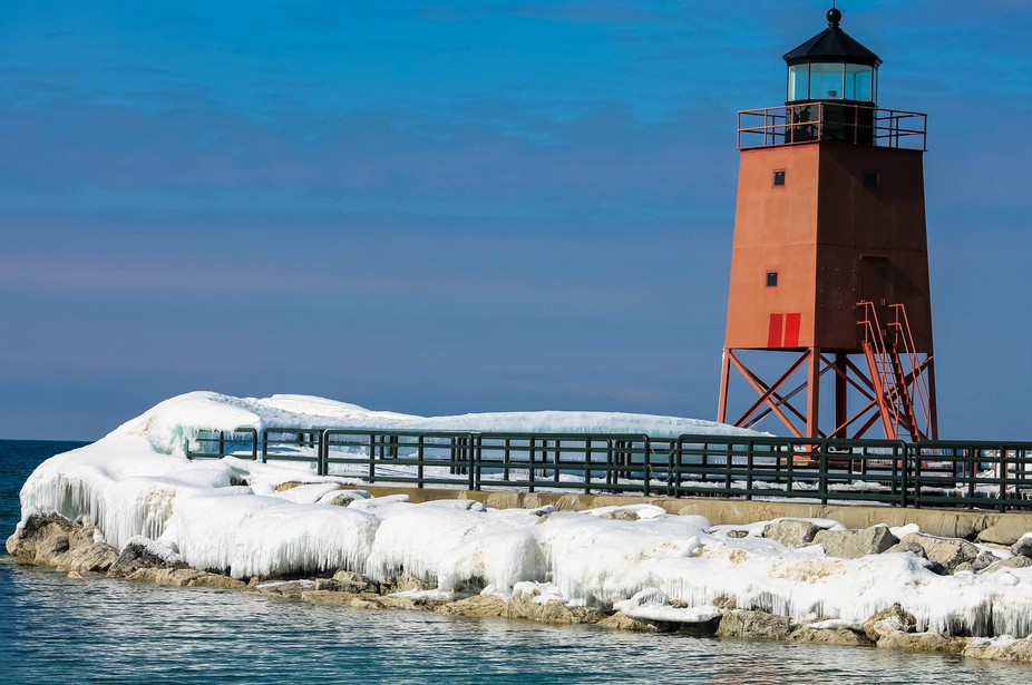Charlevoix Lighthouse in Michigan