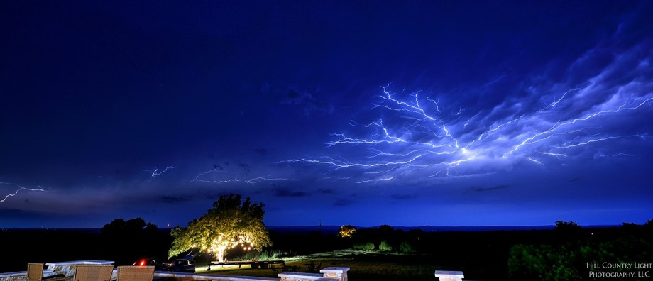 This storm was prolific, lasting over an hour and traversing the sky left-to-right.  We never got...