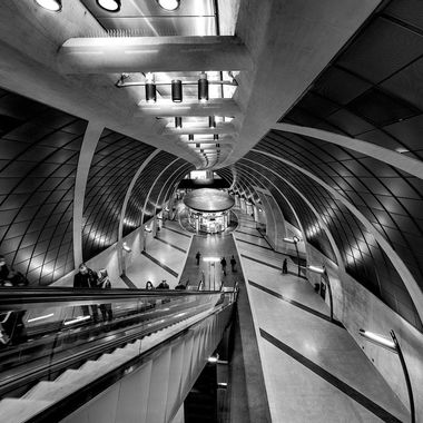 "This shot was taken in the new built underground station called ""Heumarkt"" in Cologne."