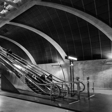 "This is ta second shot from the new built underground station called ""Heumarkt"" in Cologne."