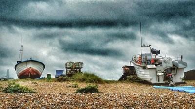 Old Windswept Coastal Village