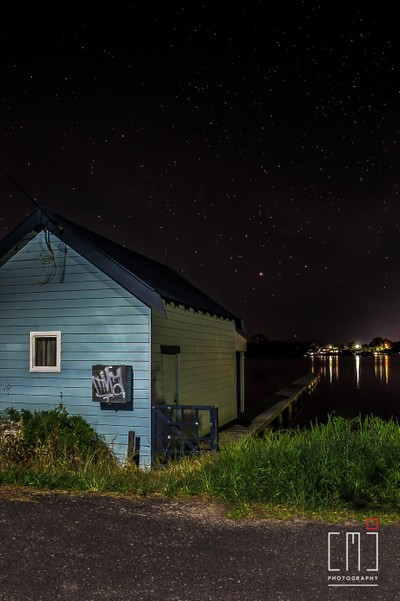 Still Night at the boat shed