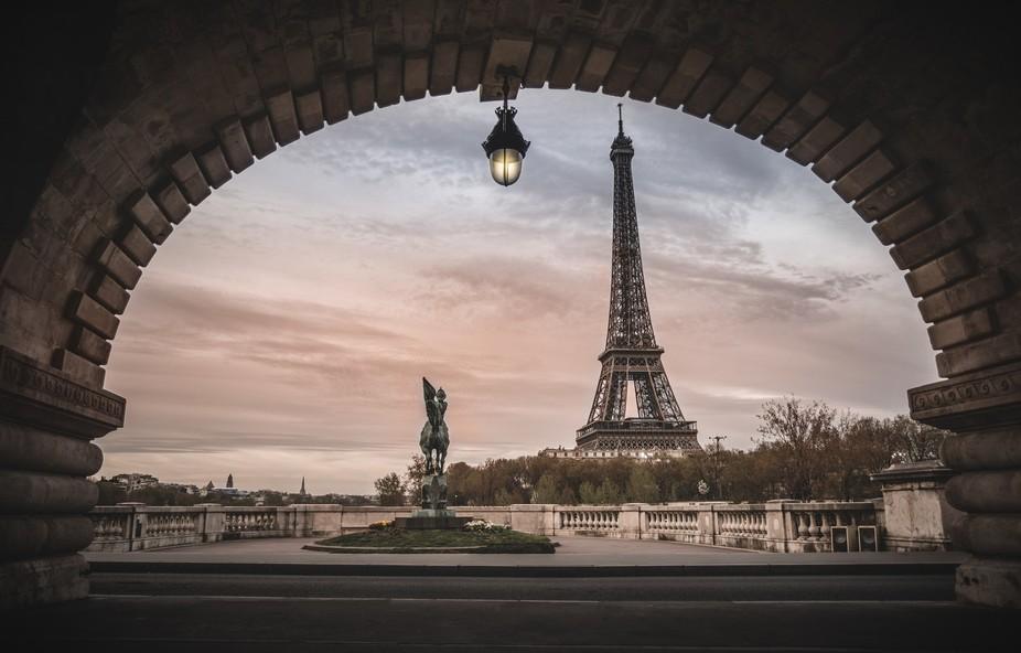 HDR stack of Bir-hakeim Bridge in Paris, France