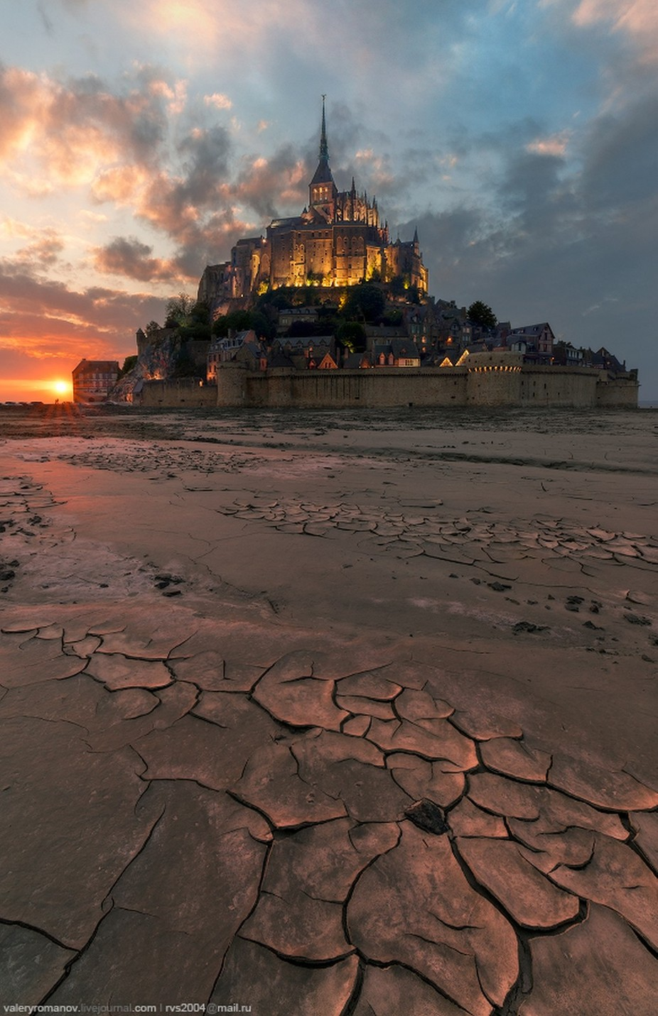 Sunset at Mont Saint-Michael Bay by valeryromanov - This Is Europe Photo Contest