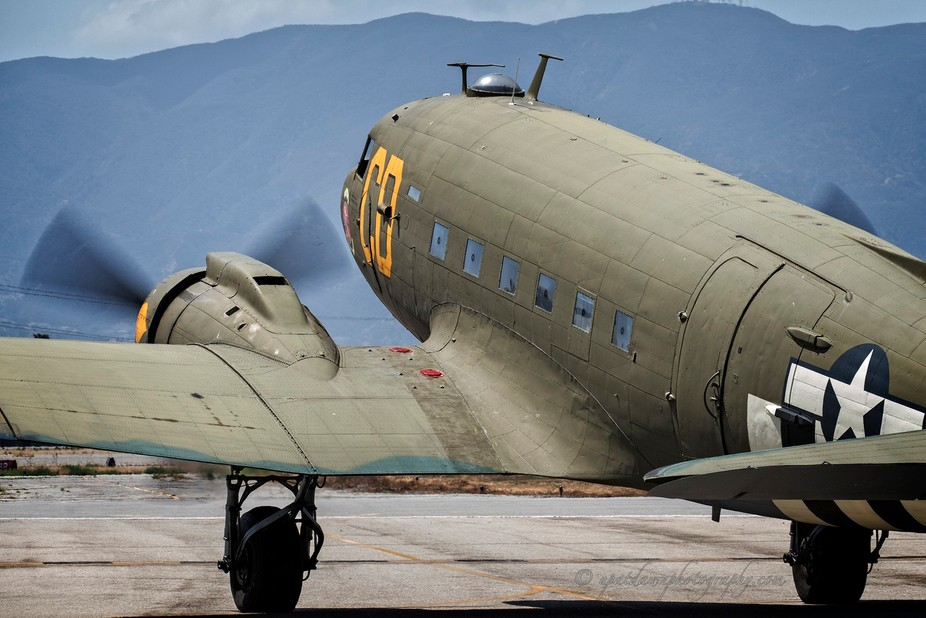 The C-47 Skytrain from the Chino Planes of Fame Air Show.