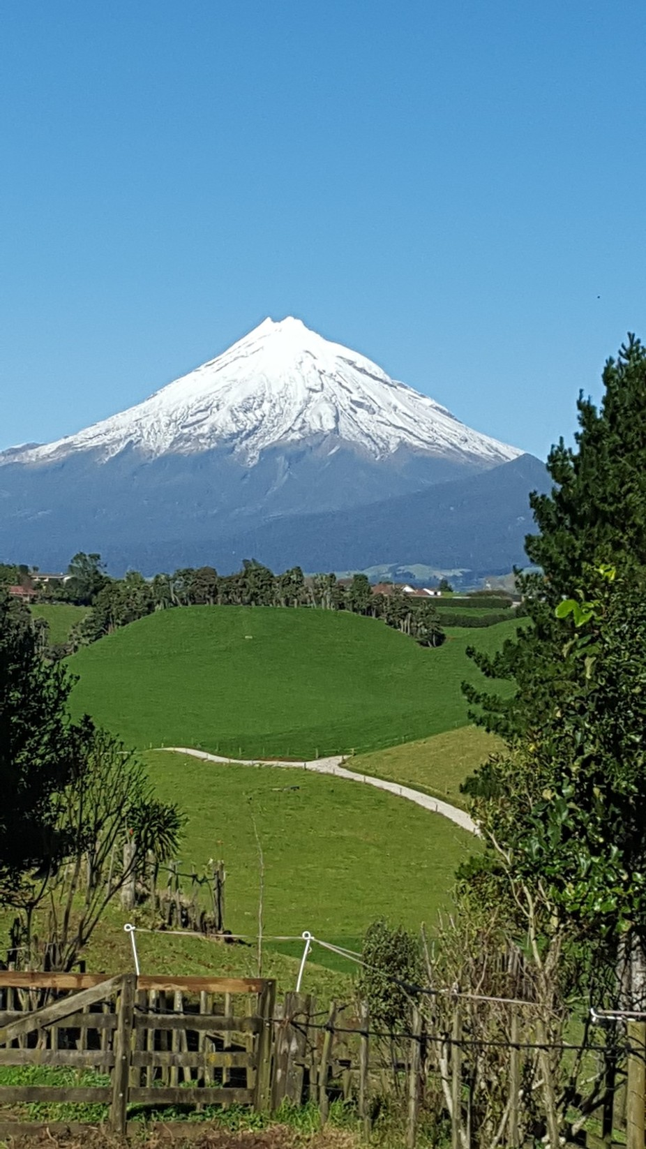 Mount Taranaki looking sensational on the second day of winter 2 June 2016