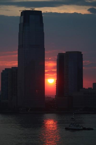 Sunset in the concrete jungle