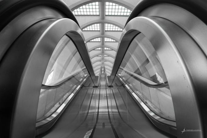 Liège-Guillemins Escalators by RubenB - Composition And Leading Lines Photo Contest