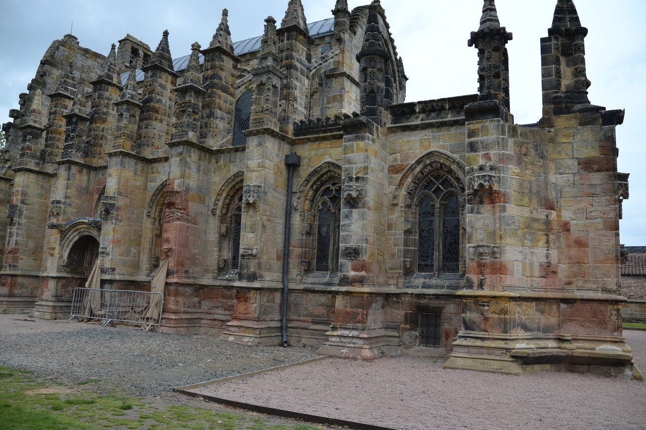 Roslyn Chapel in Scotland as seen in the movie The DiVinci Code.