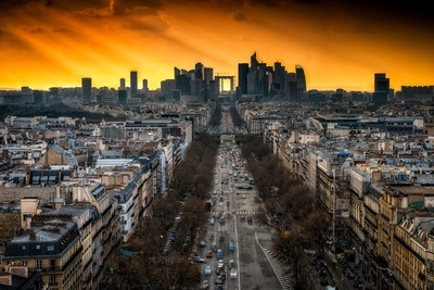Sunset on the Defense at Paris