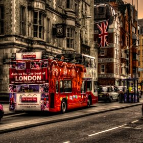 Decker bus in London's street