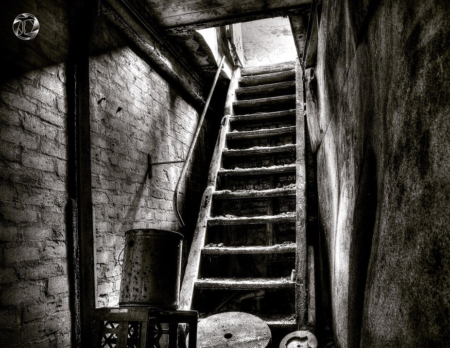 I was in a basement and shot up. HDR is also gorgeous in B/W..!