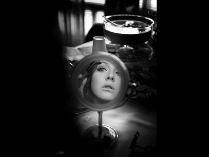 Black & white beauty by AmyNash - The Face in the Mirror Photo Contest