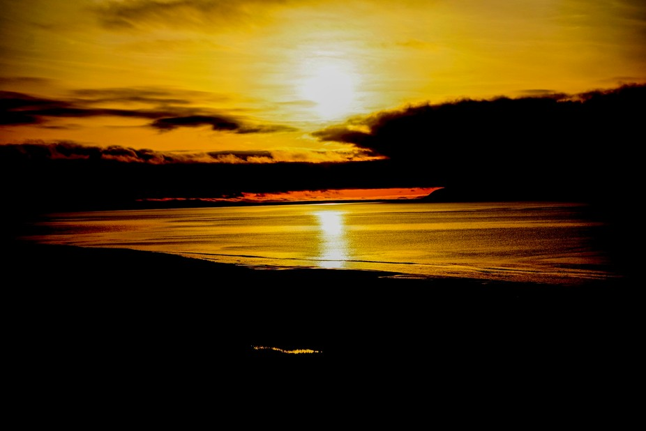 Morning sun Unimak Island, Alaska