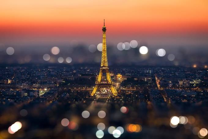 Sunset on the Eiffel Tower by FredericMONIN - Getting Creative Photo Contest