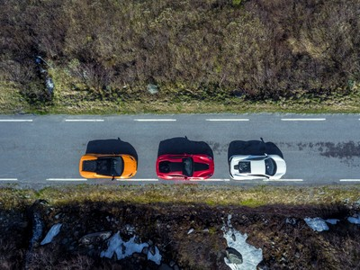 Supercars from the air